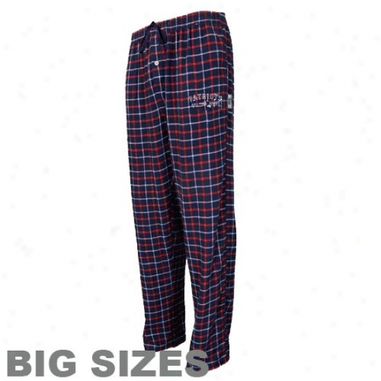 New England Patriots Navy Blue Gamdplay Full Sizes Flannel Pants