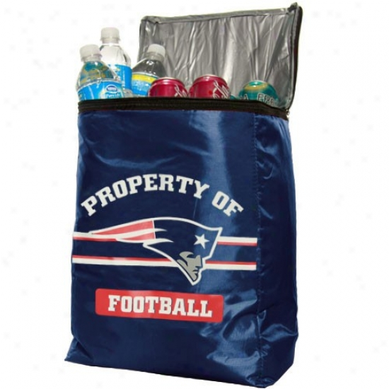 New England Patriots Navy Blue Insulated Cooler Backpack