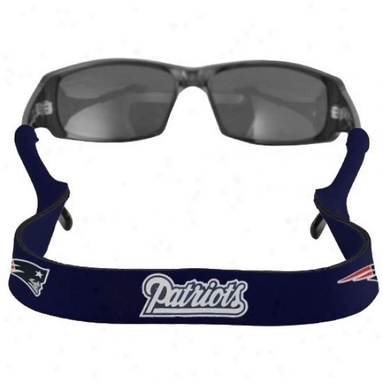 New England Patriots Navy Blue Neoprene Retainer Sunglasses Holder
