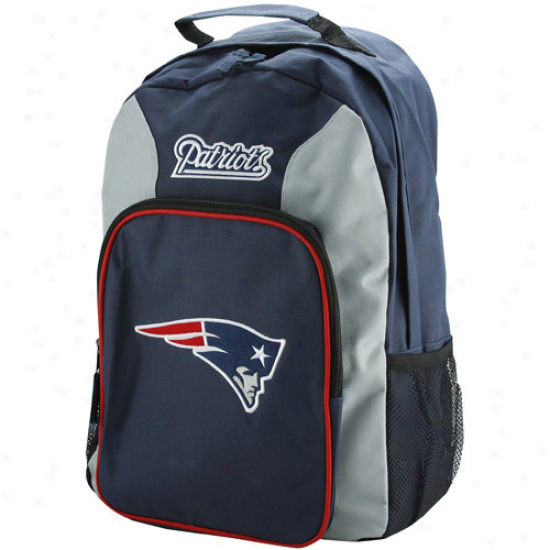 New England Patriots Navy Blue-silver Southpaw Backpack