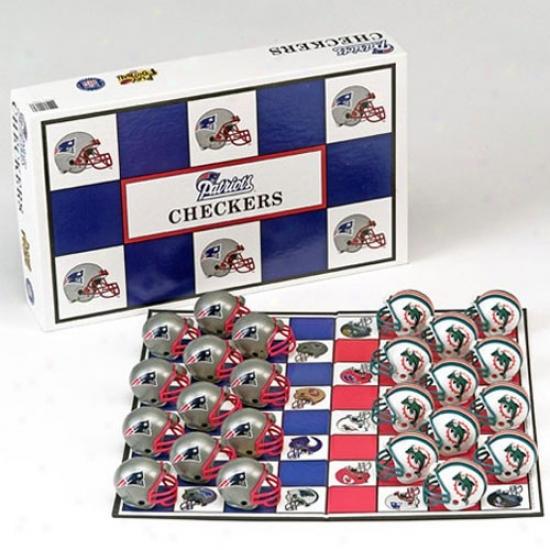 New England Patriots Nfl Team Checkers