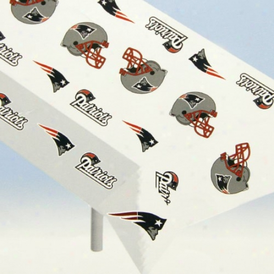 New England Patrikts Nfl Team Logo  Plastic Tablecloth
