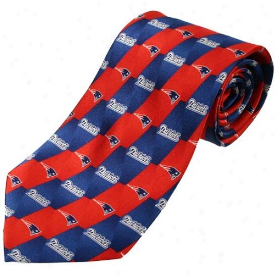 New England Patriots Pattern 1 Silk Tie