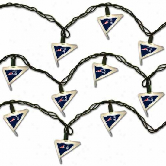 New England Patriots Pennant Party Lights