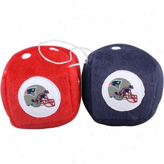 New England Patriots Plush Team Fuzzy Dice