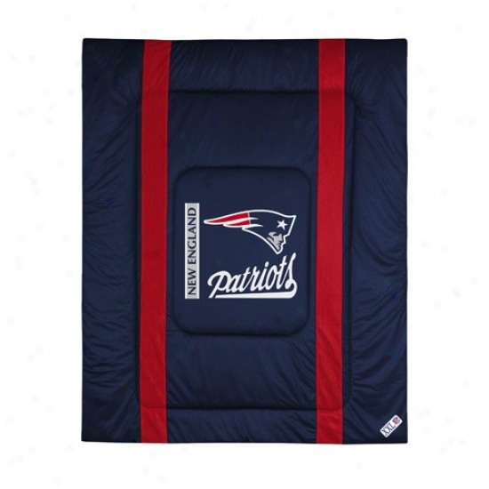 New England Patriots Queen/full Size Sideline Comforter