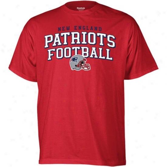 New England Patrioots Shirts : Reebok Novel England Patriots Red Top Division Shorts