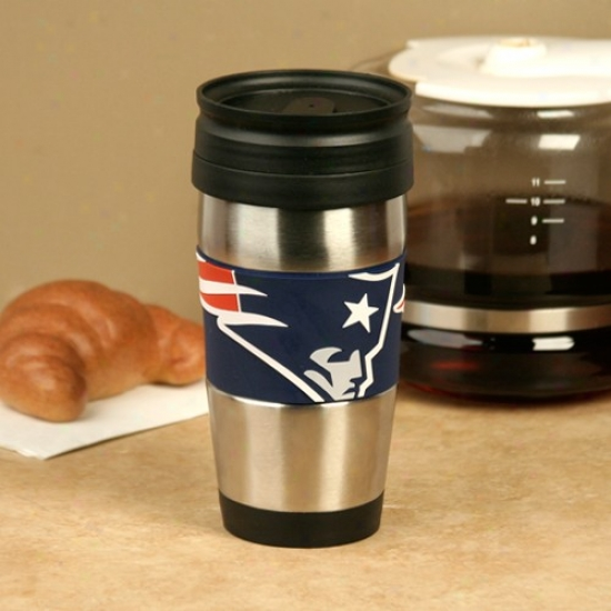 New England Patriots Stainless Carburet of iron & Pvc Travel Tumbler