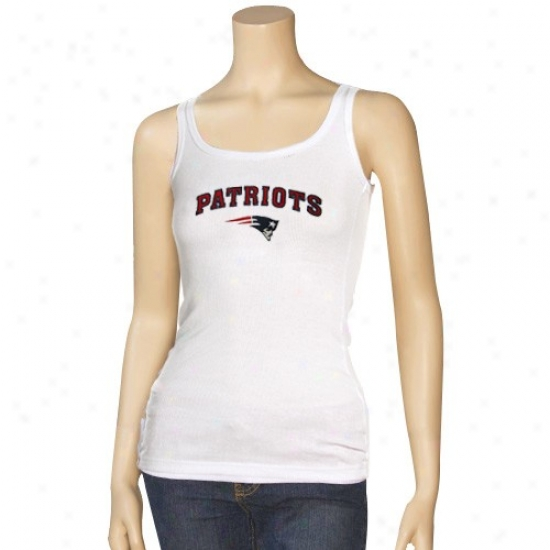 New England Patriots T Shirt : Reebok New England Patriots Ladies White Spectator Tank Top