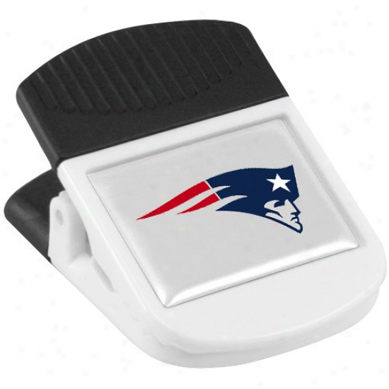 New England Patriots White Magnetic Chip Clip