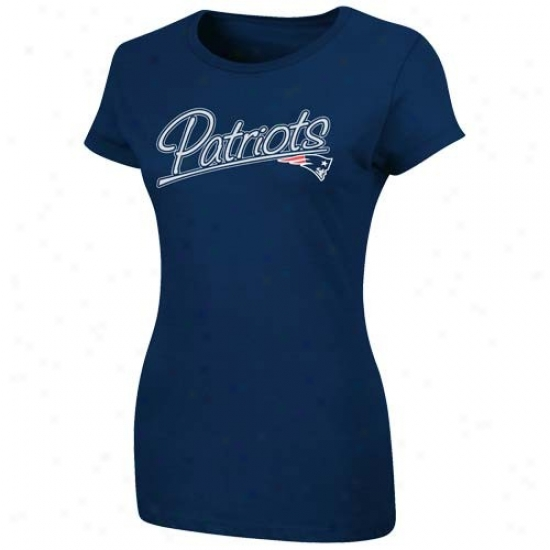 Recent England Pats Attire: Just discovered England Pats Ladies Navy Blue Franchise Fit T-shirt
