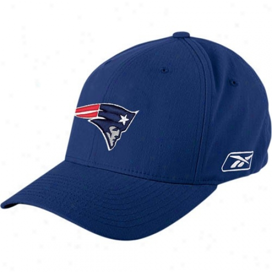 New England Pats Hat : Reebok New England Pats Navy Blue Coaches Flex Hat