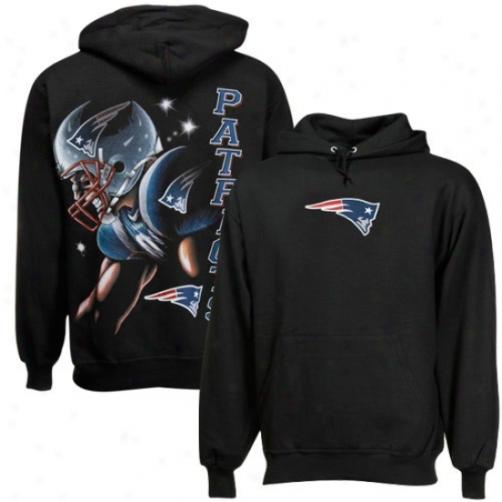 New England Pats Hoodie : New England Pats Black Game Face Hoodie