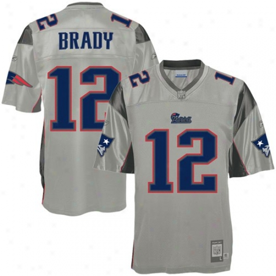 New England Pats Jerseys : Reebok Neq England Pats #12 Tom Brady Ash Storm Premisr Football Jerseys