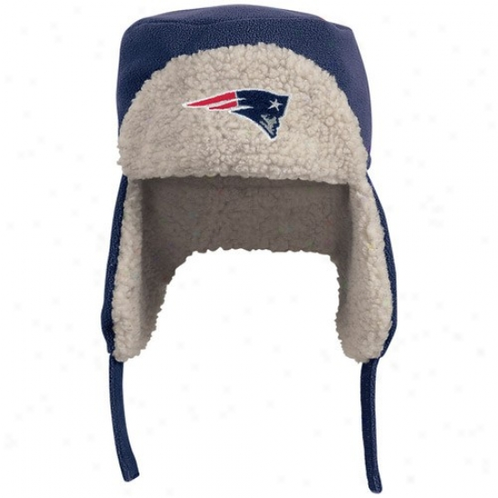 New England Pats Merchzndise: Reebok Just discovered England Pats Navy Blue Fleece Trooper Cap
