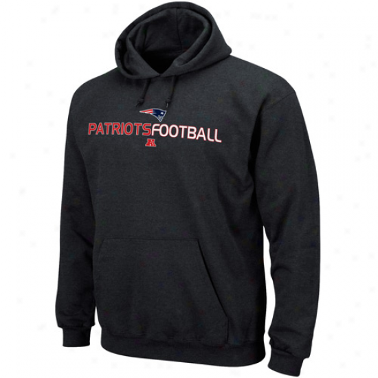 New Enbland Pats Sweatshirt : New England Pats Charcoal 1st And Goal Iii Sweatshirt