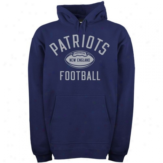 New England Pats Sweatshirt : Reebok New England Pats Navy Blue Work Out Sweatshirt