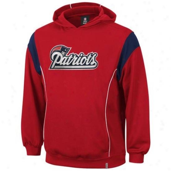 New England Pats Sweatshirt : Reebok New England Pats Youth Red Clutch Sweatshirt