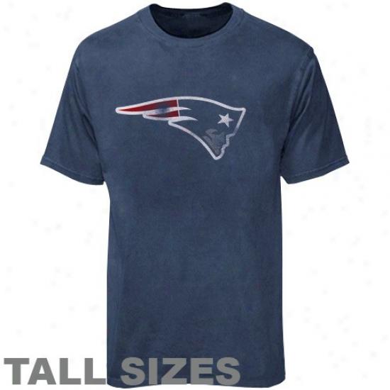 New England Pats Tshirt : New England Pats aNvu Blue Pigment Dyed Vintage High Sizes Tshirt