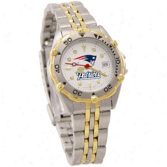 New England Pats Watch : New England Pats Ladies All-star Watch W/stainless Steel Band