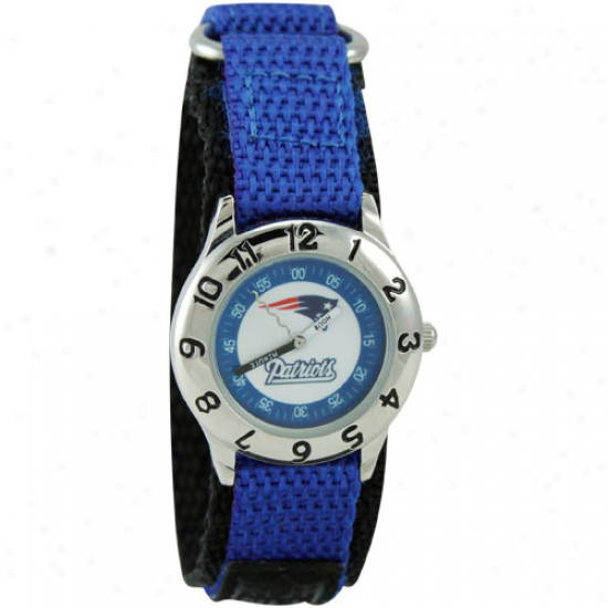 New England Pats Watches : New England Pats Youth Royal Azure Time Teacher Watches