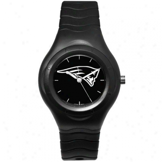 New England Pats Wrist Guard : New England Pats Black Shadiw Team Logo Spoft Wrist Watch
