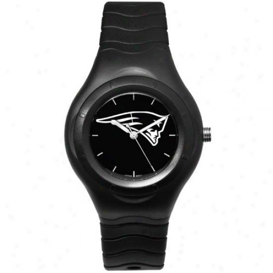 New England Pats Wrist Guard : New England Pats Black Shadiw Team Logo Spoft Wrist Watch