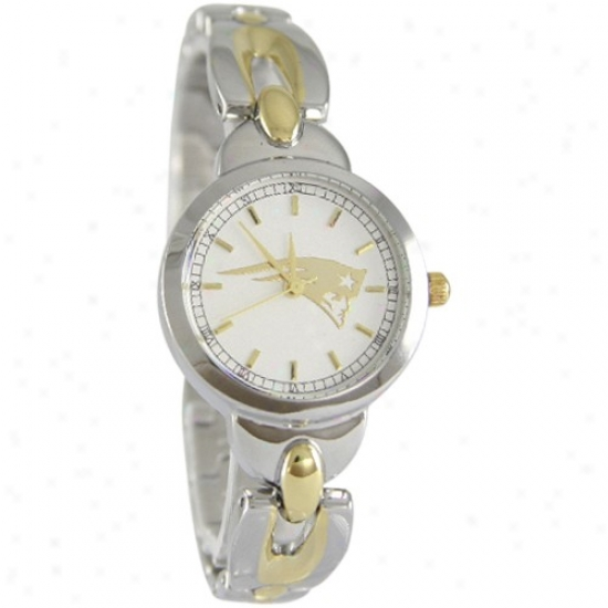 New England Pats Wrist Watch : New Englamd Pats Ladies Stainless Steel Elegance Wrist Watch
