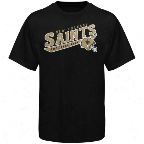 New Orleans Saint Apparel: Reebok New Orleand Saint Preschool Black The Call Is Tails T-shirt