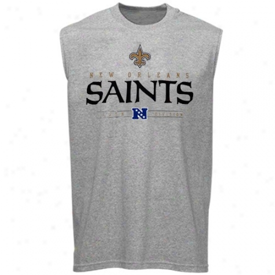 New Orleanx Saint Atture: New Orleans Saint Ash Critical Victor Sleeveless T-shirt