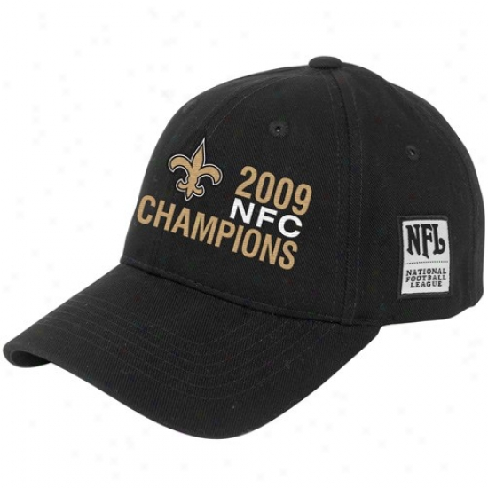 Unaccustomed Orleans Saint Caps : New Oroeans Saint Bpack 2009 Nfc Cuampions Argos Adjustable Caps