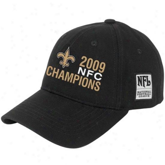 Unaccustomed Orleans Saint Caps : New Oroeans Saint Bpack 2009 Nfc Cuampions Argos Adjustable Caps