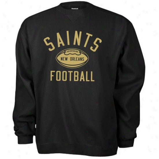 New Orleans Saint Hoody : Reebok New Orleans Saint Black Work Out Hoody