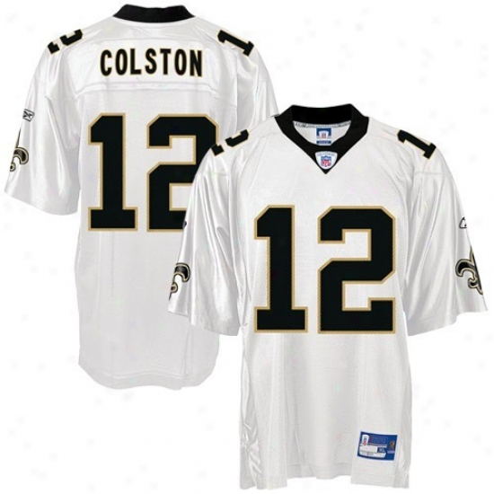 New Orleans Saint Jersey : Reebok Nfl Equipment New Orleans Saint #12 Marques Colston White Youth Replica Football Jersey