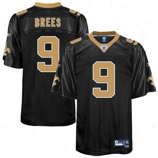 New Orleeans Saint Jersey : Reebok Nfl Equipment New Orleans Saint #9 Drew Brees Youth Black Premier Football Jersey