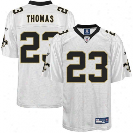 New Orleans Saint Jersey : Reebok Pierre Thomas Repaired Orleans Saint Replica Jersey - White