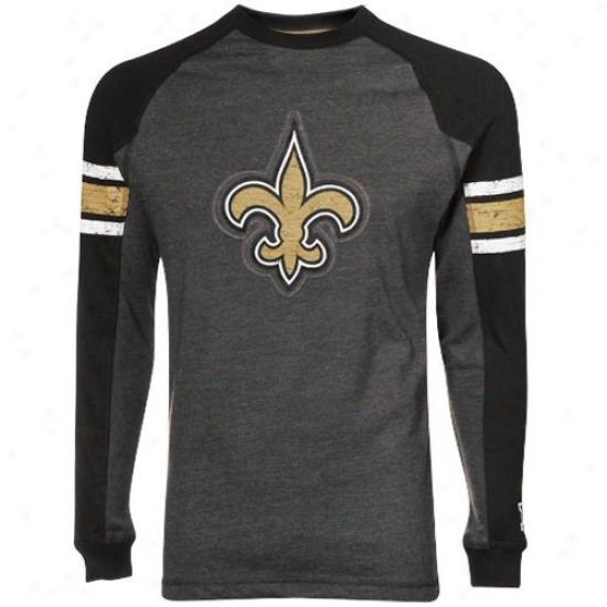 New Orleans Saint Shirts : New Orleans Saint Charcoal Victory Pride Ii Premium Long Sleebe Raglan Shirts