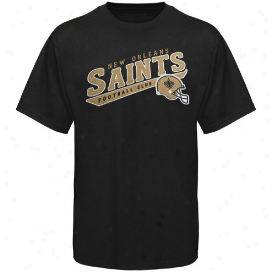 New Orleans Saint Tee : Reebok New Orlleans Saint Youth Black The Call Is Tails Tee