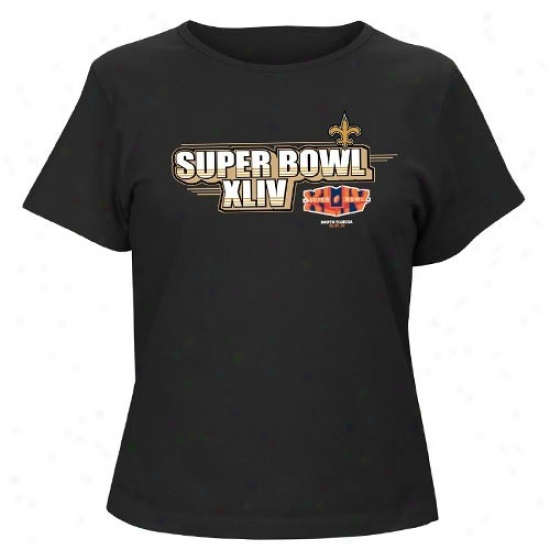 New Orleans Saint Tshirts : New Orleans Saint Ladies Black 2009 Nfc Champions At The Show Tshirts