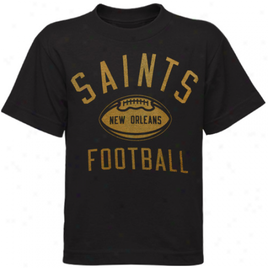New Orleans Saint Tshirts : Reebok New Orleans Saint Preschool Black Workout Tshirts