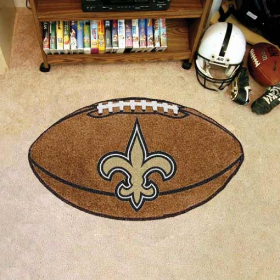 """new Orleans Saints 22""""x35"""" Football Mat"""