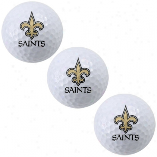 New Orleans Saints 3-pack Of Team Logo Golf Balls