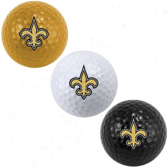 New Orleans Saints 3-pack Team Color Golf Balls