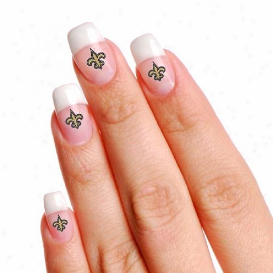 NewO rleans Saints 4-pack Temporary Nail Tattoos