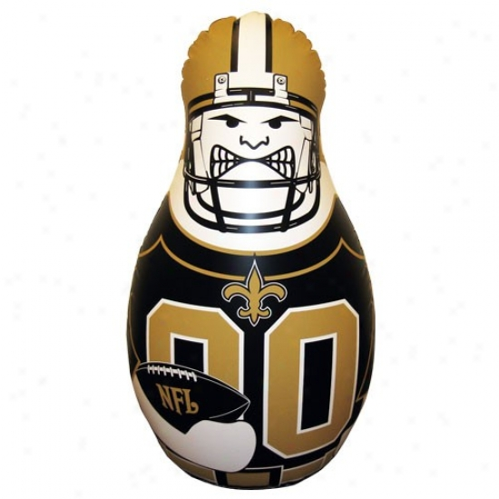 New Orleanq Saints 40'' Inflatable Tackle Buddy Punching Bag
