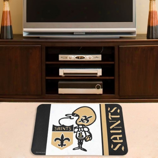 New Orleans Saints Black 20'' X 30'' Welcome Mat