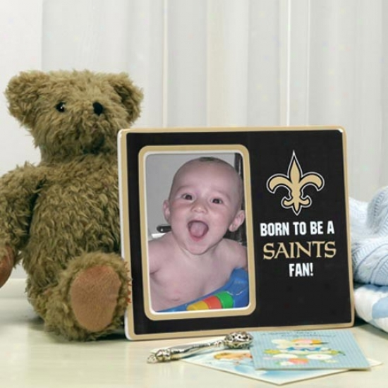 New Orleans Saints Black Born To Be Ceramic Picture Frame