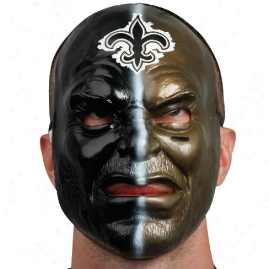 New Orlens Saints Black-gold Fan Face Mask