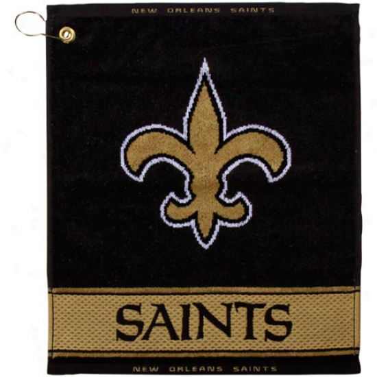 New Orleans Saints Black-gold Woven Jacquard Golf Towel
