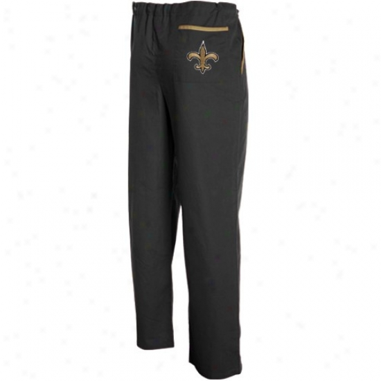 New Orleans Saints Black Scrub Pants